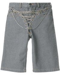Y. Project - Shorts con detaglio a catena - Lyst