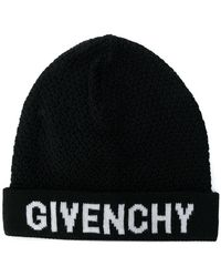 Givenchy - Logo Patch Beanie Hat - Lyst
