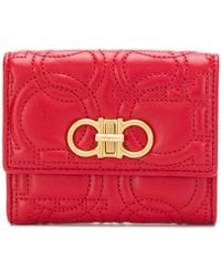 Ferragamo - Gancini Quilted Compact Wallet - Lyst