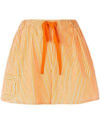 Fendi - Drawstring-waist Striped Shorts - Lyst