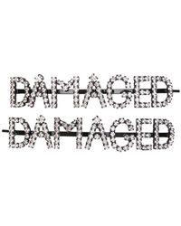 Ashley Williams - Damaged Embellished Hair Clips - Lyst