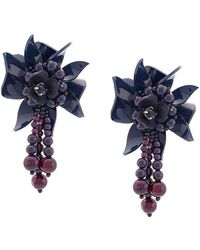 Oscar de la Renta - Flower Field Earrings - Lyst