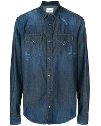 Dondup - Distressed Denim Shirt - Lyst