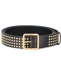 Alexander McQueen - Gold Studded Leather Belt - Lyst