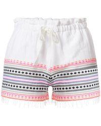 lemlem - Embroidered Stripes Shorts - Lyst