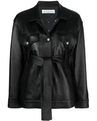 Golden Goose Deluxe Brand - Pictor Leather Belted Jacket - Lyst