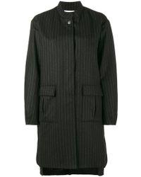 Lot78 | Pinstripe Cocoon Coat | Lyst