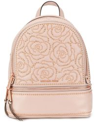 437fea26ba17 MICHAEL Michael Kors Rhea Small Studded Backpack in Red - Lyst