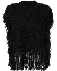 Sonia Rykiel - Fringed Knit Poncho - Lyst