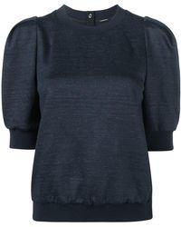 Adam Lippes - Short Puff Sleeve Sweatshirt - Lyst