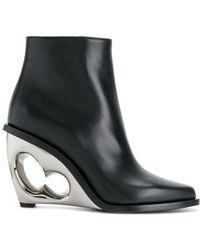 Alexander McQueen - Sculpted Wedge Boots - Lyst