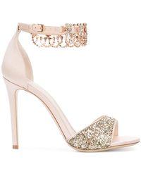 Monique Lhuillier - Glitter Sandals - Lyst