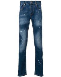 Les Hommes - Bleached Detail Slim-fit Jeans - Lyst