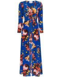 We Are Leone - Silk Floral Maxi Robe - Lyst
