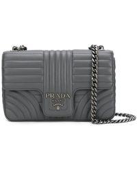 509f56a1ce92 Prada - Quilted Logo Shoulder Bag - Lyst
