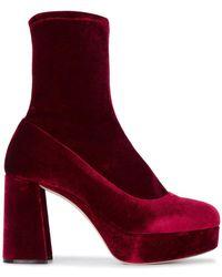 Miu Miu - Block Heel Ankle Boots - Lyst