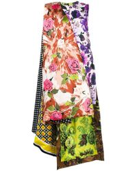 Richard Quinn - Floral Print High Low Dress - Lyst