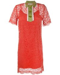 JOUR/NÉ - Collared Lace Mini Dress - Lyst