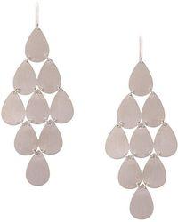 Irene Neuwirth - 18kt White Gold Nine-drop Chandelier Earrings - Lyst