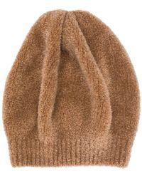 Brunello Cucinelli Textured Beanie Hat - Brown