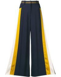 Peter Pilotto - Side-stripe Flared Trousers - Lyst