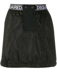 DSquared² ロゴ ミニスカート - ブラック