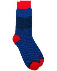 Etro - Mix Print Knit Socks - Lyst
