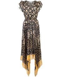 Ulla Johnson - Printed Handkerchief Midi Dress - Lyst