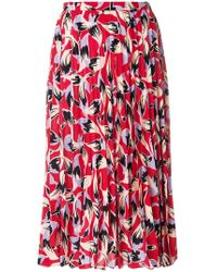N°21 | Pleated Patterned Skirt | Lyst