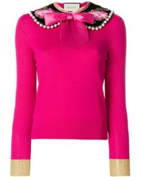 Gucci - Jersey con cuello Peter Pan - Lyst