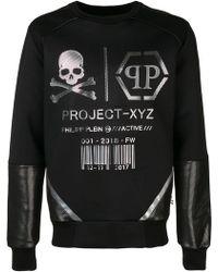 Philipp Plein - Ls Xyz Logos Sweatshirt - Lyst