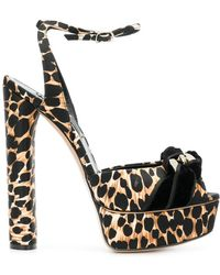 Casadei - Leopard Print Sandals - Lyst