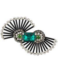 508c4fcb59b Rochas - Crystal Embellished Brooch - Lyst