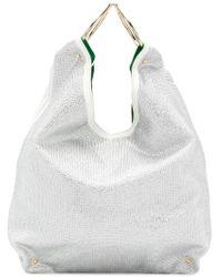 Sara Battaglia - Embellished Bucket Tote - Lyst