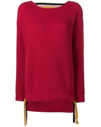 Pinko - Knitted Cut-out Jumper - Lyst