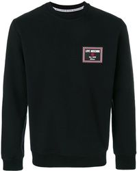 Love Moschino | Logo Patch Sweatshirt | Lyst