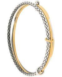 Bottega Veneta - Intrecciato Engraved Bracelet - Lyst