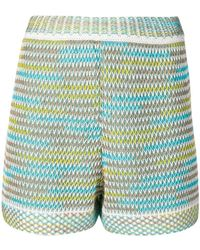 M Missoni - Knitted Shorts - Lyst