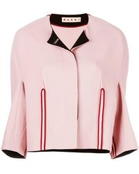 Marni - Collarless Structured Jacket - Lyst