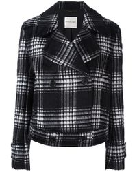 Emanuel Ungaro - Plaid Double-breasted Jacket - Lyst
