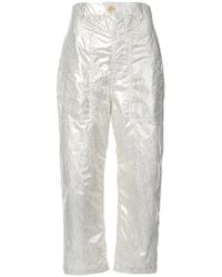 Julien David - Cropped Trousers - Lyst