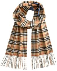 Burberry - Cashmere Long Vintage Check Scarf - Lyst