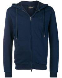 Emporio Armani - Basic Hooded Jacket - Lyst