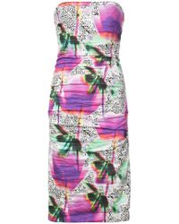 Nicole Miller - Fitted Silhouette Strapless Dress - Lyst