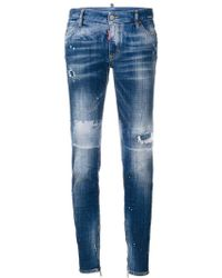 DSquared² | Distressed Skinny Jeans | Lyst