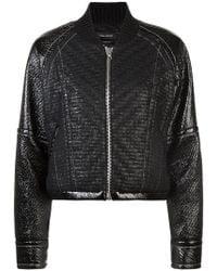 Yigal Azrouël - Laminated tweed bomber jacket - Lyst