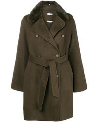 P.A.R.O.S.H. - Belted Double Breasted Coat - Lyst