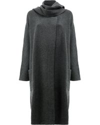 Le Kasha - Knitted Coat With Scarf Neck Detail - Lyst