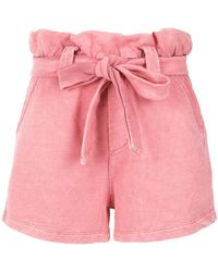 Olympiah - High Waist Belted Shorts - Lyst