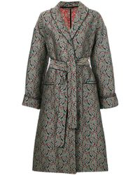 ALEXACHUNG - Paisley Embroidered Belted Coat - Lyst
